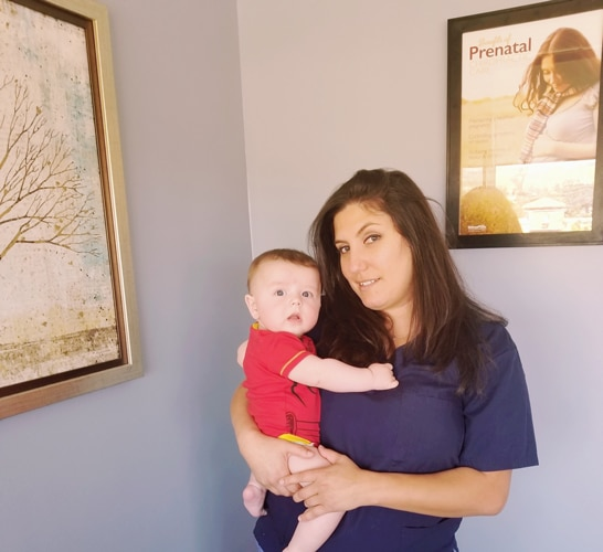 Child Adjustment at Nurture Family Chiropractic