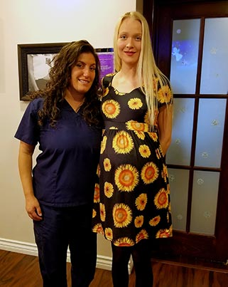Chiropractor Los Angeles CA Dr. Heather Valinsky with Patient