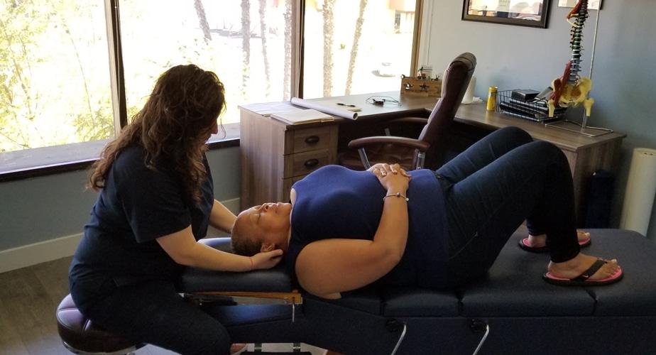 Neck Chiropractic Adjustment at Nurture Family Chiropractic