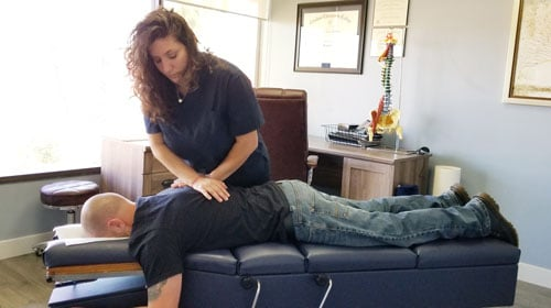 Chiropractic Adjustment at Nurture Family Chiropractic - Simi Valley