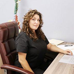 Chiropractor Los Angeles CA Heather Valinsky at her Desk